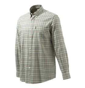 CHEMISE BUTTON DOWN BEIGE CHECK
