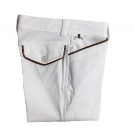 PANTALON POINT SELLIER BLANC