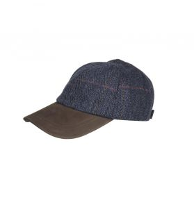 CASQUETTE BASE BALL TWEED  BLUE