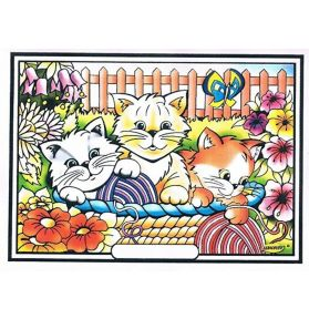 COLORIAGE LES CHATONS