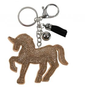 PORTE CLES CHEVAL STRASS OR