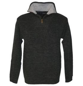 PULL COL ZIP CAMIONNEUR ANTHRACITE