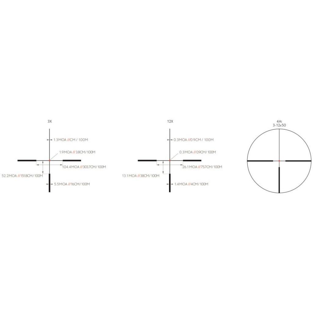 LUNETTE K4 3-12X50 30MM 4AI KITE OPTICS