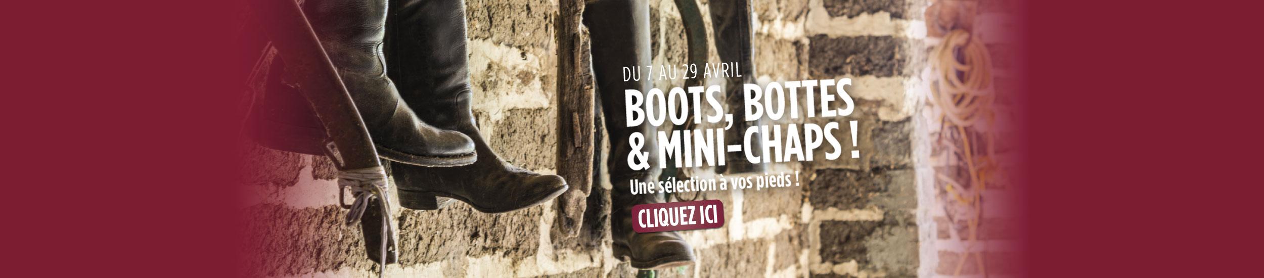 Boots, Bottes & Mini-chaps !
